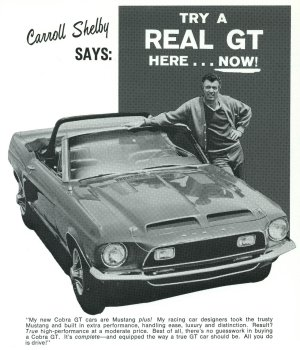 1967 Shelby GT Dealer Ad